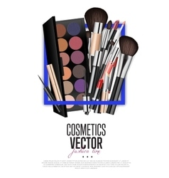 Professional Fashion Makeup Realism Banner vector image