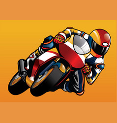 Riding the sportbike vector