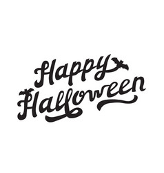 scary hand drawn lettering happy halloween vector image vector image