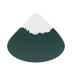 The sacred mountain of fuji japan icon vector
