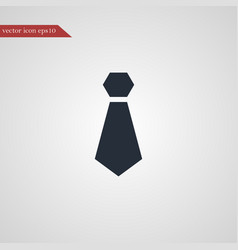 Tie icon simple vector