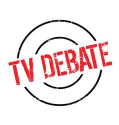 Tv debate rubber stamp vector