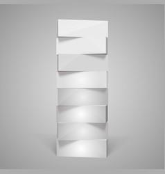 vertical rectangular pyramid vector image