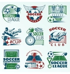Soccer Colored Emblems vector image