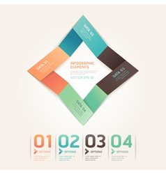 Modern arrow origami options banner vector