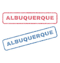 Albuquerque textile stamps vector