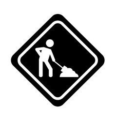 under construction traffic signal icon vector image