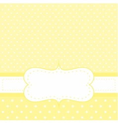 White dots on yellow background invitation vector