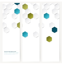 Set of abstract template banner vector