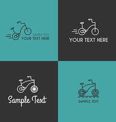 Set of line art badge or logo templates with vector
