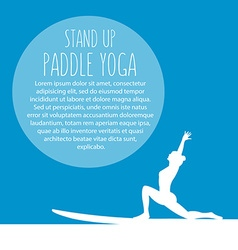 Flat design style of stand up padlle yoga te vector