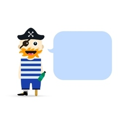 Halloween captain pirate character costume vector