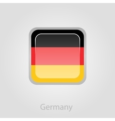 Germany flag button vector