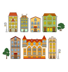 Old town house vector