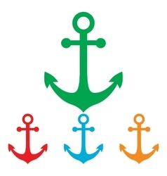Anchor sign colorfull set vector