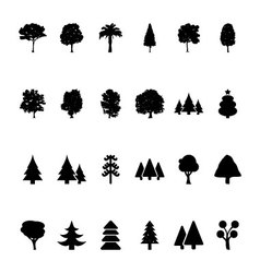 Trees icons 1 vector