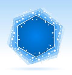 Abstract blue hexagon vector image