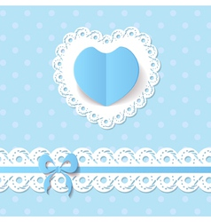 baby shower for a boy vector image