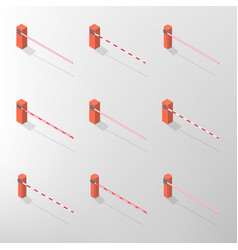 barrier isometric vector image vector image