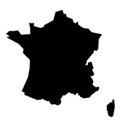 Black silhouette map of France vector image