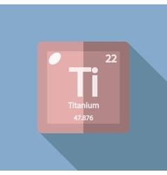 Chemical element titanium flat vector