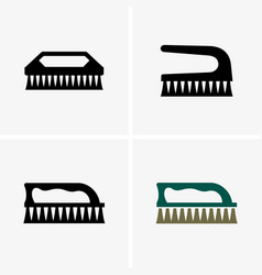 clothes cleaning brush vector image vector image