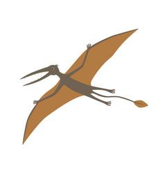 dinosaur rhamphorhynchus vector image vector image