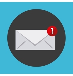 email notification design vector image