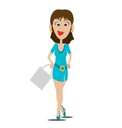 girl model smiling vector image vector image