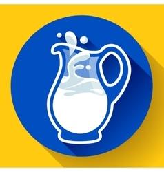Glass milk jug with splash fresh vector image vector image