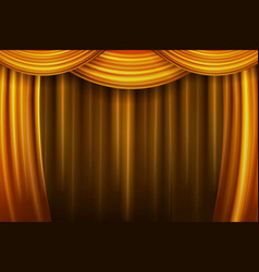 Gold theater curtain vector