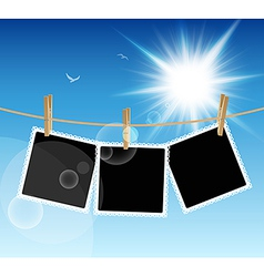 Hanging Pictures vector image