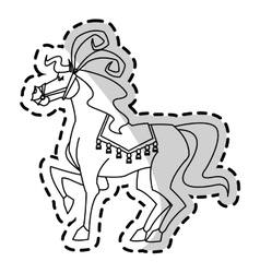 Isolated circus horse design vector