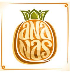 Logo for ananas vector