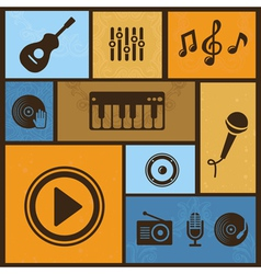 Music design elements vector