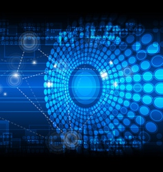 network technology background vector image