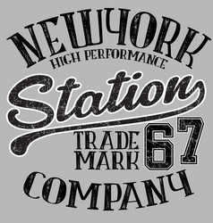 new york typography t-shirt graphics vector image vector image