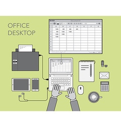 Office desktop vector image vector image