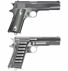 pistol scheme vector image vector image