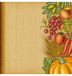 Retro harvest background vector image vector image
