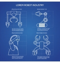 Robot arms blueprint vector