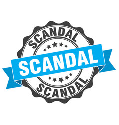 Scandal stamp sign seal vector
