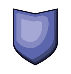 shield in purple color with brightness vector image vector image