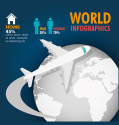 Travel around world infographics vector