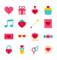 Valentine day objects vector