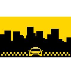 yellow taxi backdrop transport background vector image vector image