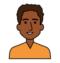 young black man avatar character vector image vector image