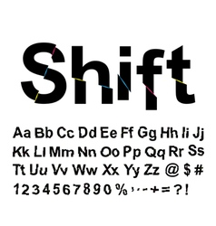 Abstract shift font vector