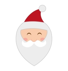 Santa claus character icon vector