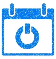 Turn on calendar day grainy texture icon vector